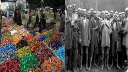 ערבים בעזה (משמאל) ויהודים בזמן השואה (מימין): רואים את הדמיון?