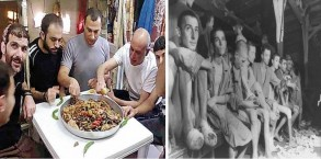 אסירים יהודים בכלא הישראלי (משמאל) ואסירים יהודים במחנה ריכוז באירופה (מימין): אותם התנאים?