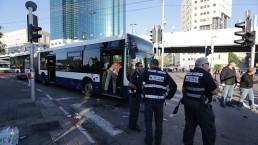 האוטובוס לאחר נסיון הטבח