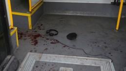 רצון עז לרצוח יהודים (כתמי הדם המעידות על שהתרחש באוטובוס)