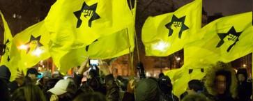 """הוצאו אל מחוץ לחוק: חברי """"הליגה"""" בהפגנה בפריז"""