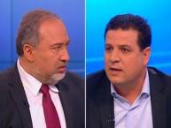 אביגדור ליברמן מול איימן עודה (נציג המפלגה הערבית המאוחדת): ליברמן שוב השמיע את מה שהציבור היהודי רוצה לשמוע
