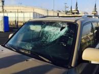 גם אבנים יכולות להרוג (הרכב שהותקף הבוקר על ידי מחבלים ערבים)