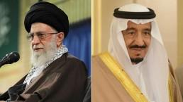 המאבק על השליטה המדינית והדתית במזרח התיכון עולה מדרגה (מימין: המלך הסעודי, ומשמאל: המנהיג העליון של איראן)