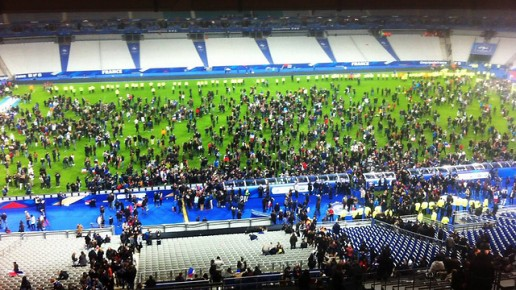 בהלה בתוך המגרש: קולות הפיצוץ נשמעו גם בתוך האצטדיון