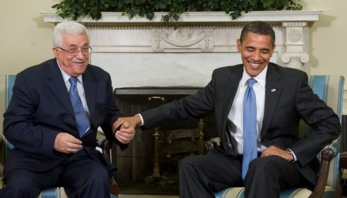 סביר להניח שלא ייענה לקריאה (הנשיא אובמה עם המחבל מחמוד עבאס)