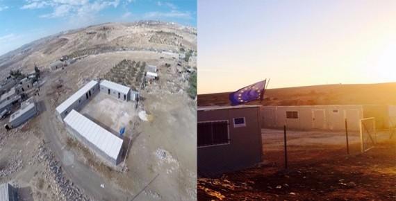 המבנים לא ייהרסו כי הם לא של יהודים (המבנים הלא חוקיים ועליהם דגל האיחוד)