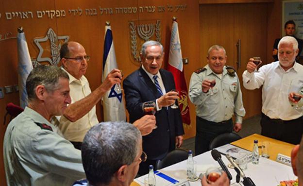 Yair Golan with Netanyahu and Yaalon1