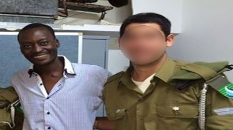 IDF soldiers get lecture from illegal alien