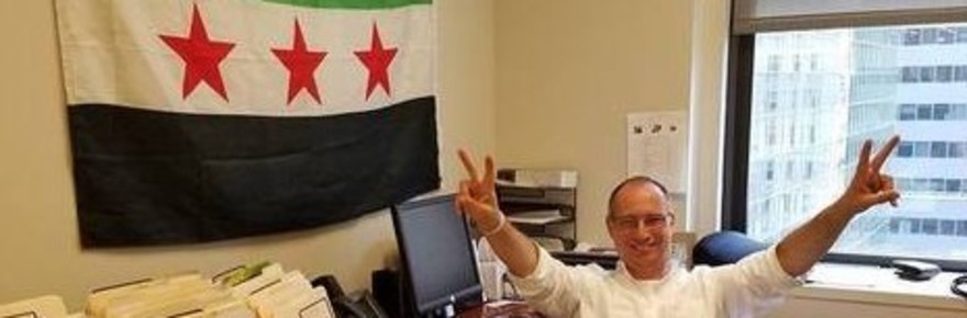 Mota_Kahane_with_Free_Syria_Army_flag_helps_Sunni_terrorists_with_Israeli_government_aid_-_Copy