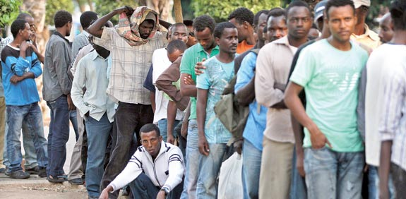 African illegal aliens in Israel1