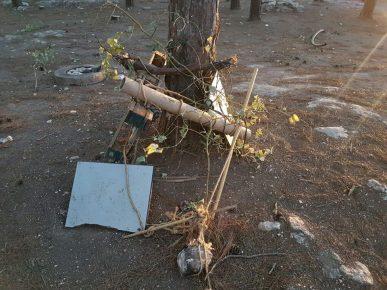 נקודת ההצתה שאותרה ביער סמוך ליוקנעם